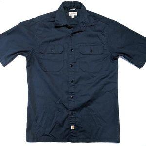 Carhartt Mens M Short Sleeve Button Up Shirt